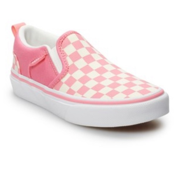 71505fb50b Vans Asher Strawberry Girls  Checkered Skate Shoes
